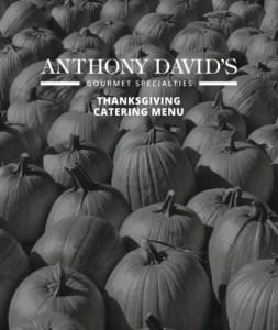 Anthony David's - Thanksgiving Menu