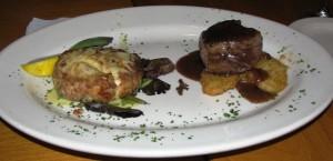 Fireside Bar & Grille - Petite Filet & Crab Cake Duo