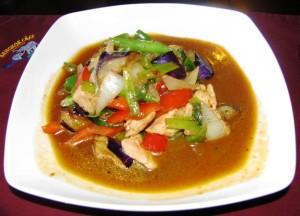 Downtown Bangkok Cafe - Basil Eggplant Stir Fry w Pork