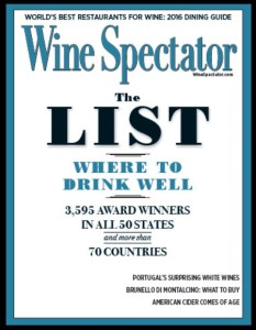 Wine Spectator - 2016 Restaurant List