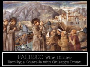 Frog and Peach - Falesco Wine Dinner