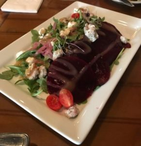 Feby's Fishery - Roasted Beet & Arugula Salad
