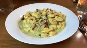 Byrsa Bistro - Tortellini w Chicken in Pestro Cream Sauce