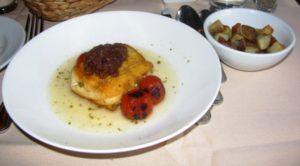 Alba - Sauteed Halibut w Lemon & Chili Roasted Potatoes