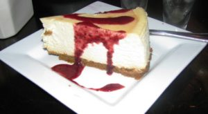 Il Granaio - Lemon Cheesecake with Raspberry Sauce