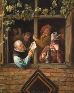 Rhetoricians at the Window by Jan Steen