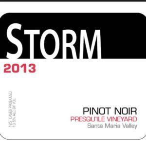 Storm Presqu Vineyard Pinot Noir 2013
