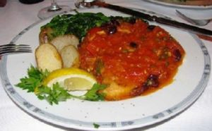 Il Melograno - Swordfish w Puttanesca