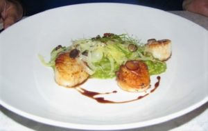 Main & Vine - Seared Barnegat Scallops