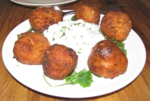 Local Greek - Tomato Fritters