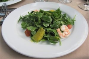 Francisco's - Arugula Salad with Shrimp Citrus Vinaigrette