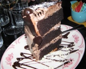 Bud and Marilyn's - Choc Peanut Butter Malted Milk Ball Cake