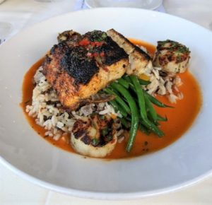 Creed's - Blackened Barramundi & Sea Scallops