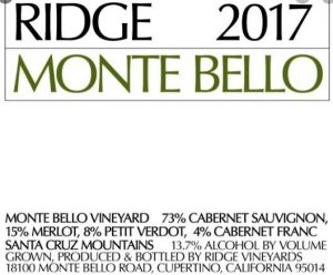 Ridge 2017 Monte Bello