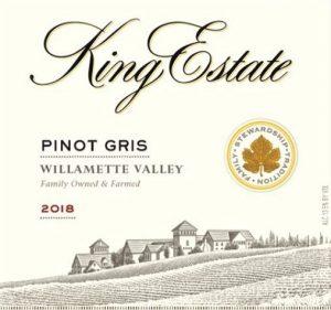 King Estate Pinot Gris 2018