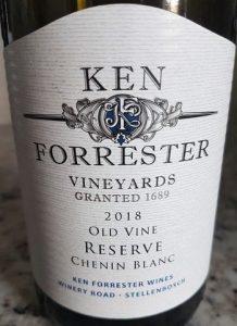 Ken Forrester Reserve Chenin Blanc 2018