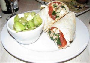 Fattoush - Greek Chicken Wrap