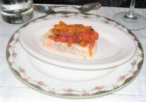 Orangery - Sweet Pepper Crostini
